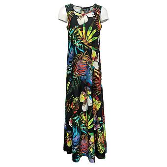 Attitudes by Renee Dress Regular Printed Sleeveless Maxi Black A375406