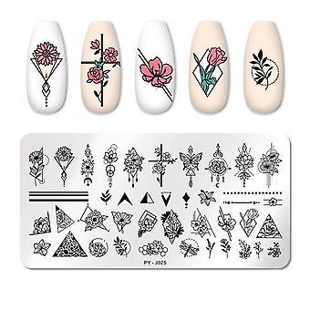 Natural Plants Flower Nail Art - Leimauslevyt