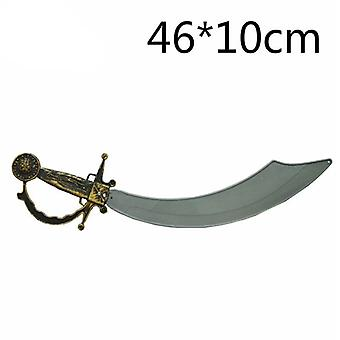 Halloween Costume Party Props Plastic Sword Toy Pirates Sword Foam Simulation Pirates Sword Kid Cosplay Gifts