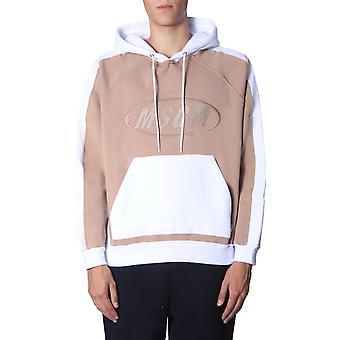 Msgm 2740mm7819579901 Mænd's Hvid/brun bomulds sweatshirt