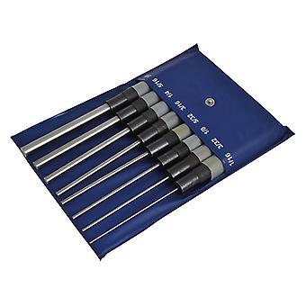 Faithfull Long Series Pin Punch Set 8 Piece FAIPPSET8RHL