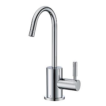 Punto de uso grifo de agua fría potable con cuello de cisne spout giratorio - cromo pulido