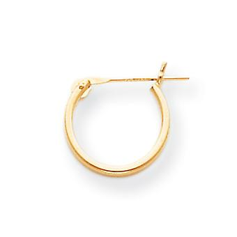 14k Yellow Gold Hollow Polished 1.25mm Half Hoop Earrings Measures 12x12mm Jewelry Gifts for Women