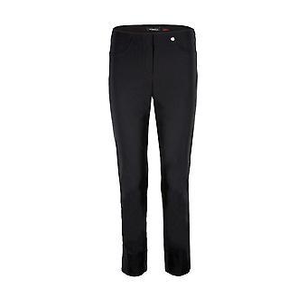 Robell Bella Ankle Grazer Trousers in Black