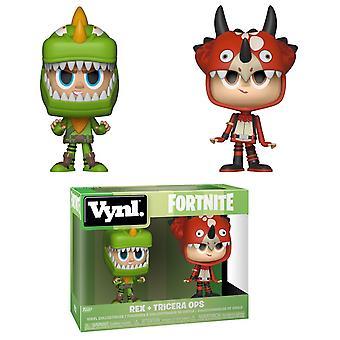 Funko Fortnite Vynl. Rex & Tricera Ops Vinyl Figure 2-Pack Kids Toy