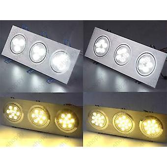Triple-head Led Ceiling Light Fixture Dimmable/not Lamp Bulb Kit Square