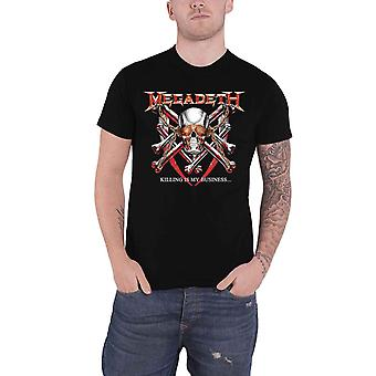 Megadeth T Shirt Killing Is My Business Band Logo new Official Black