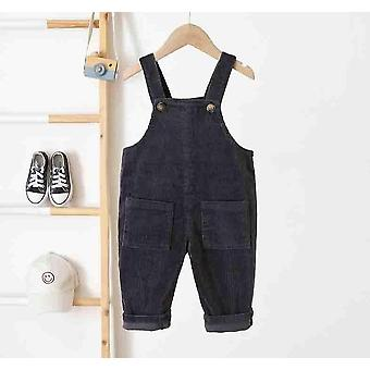 Kids Pants 0-3yrs Boys Girls Overalls Corduroy Jumpsuits Romper Pants