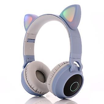 Bluetooth Cute Cat Ear Faltbare Led blinkenKopfhörer