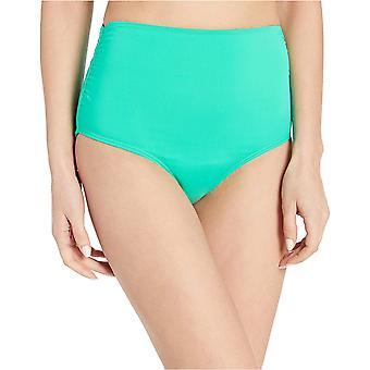 Anne Cole Women's hög midja att vika över Shirred Bikini Bottom Baddräkt, Liv ...