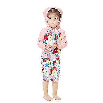 Bonverano Girls UPF 50+ Sun Protection 3/4 Sleeves Zipper Sunsuit Hooded