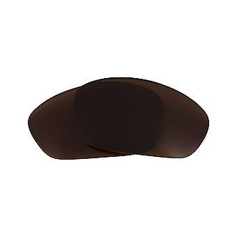 Lentilles de remplacement polarisées pour Oakley Straight Jacket Frame Anti-Scratch Brown