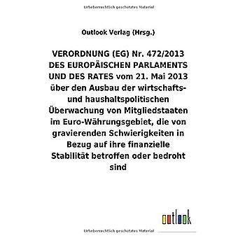 VERORDNUNG (EG) Nr. 472/2013 vom 21. Mai 2013 Aber den Ausbau der wirtschafts- und haushaltspolitischen Aceberwachung von Mitgliedstaaten im Euro-W hrungsgebiet, die von gravierenden Schwierigkeiten bezug auf ihre finanzielle Stabilit t betroffen oder