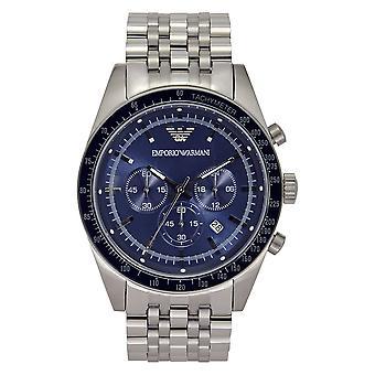أرماني Ar6072 الرجال & apos;s الأزرق الاتصال شاشة سوار الفضة