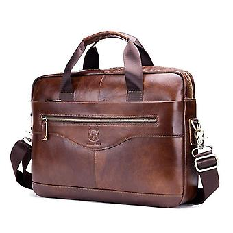 Kožené Vintage laptop rameno taška