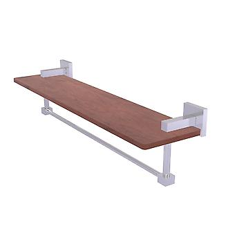 Montero Collection 22 Inch Solid Ipe Ironwood Shelf With Integrated Towel Bar - Mt-1-22Tb-Irw-Sch