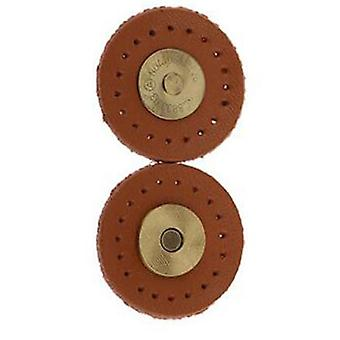 3cm Hand Stitched Leather Buckle Magnetic Sewing Magnet Snap Button Clasp Brown