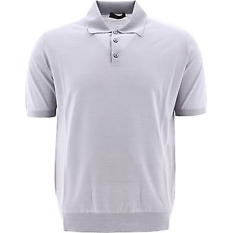 Prada Uma290c5wf0024 Men's Grey Wool Polo Shirt
