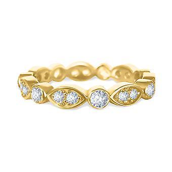 Anillo boda diamantes banda 18K oro