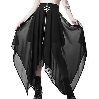 Summer Mesh Women Zipper Punk Skirts Gothic Darkness Lady Skirt