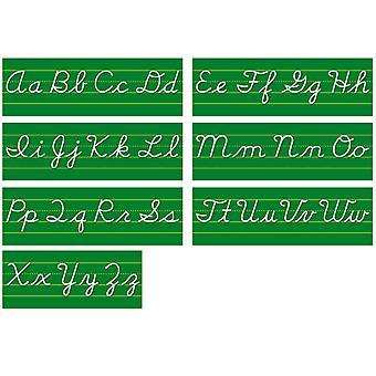 Contemporary Cursive Alphabet Lines Bulletin Board Set