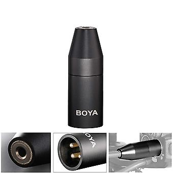 Boya 35c-xlr 3.5mm (trs) mini-jack female microphone adapter to 3-pin xlr male connector compatible