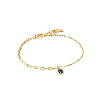 Ania Haie Shiny Gold Tidal Abalone Mixed Link Bracelet B027-02G