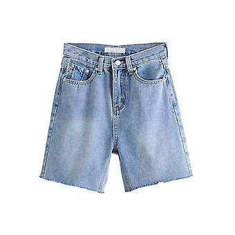 High Waist Slim Denim Shorts, Bermuda Woman Fashion Tassel Tight Short