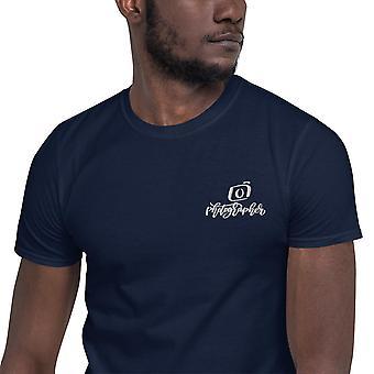 Emblema bordado fotógrafo - camiseta de manga corta, hombres