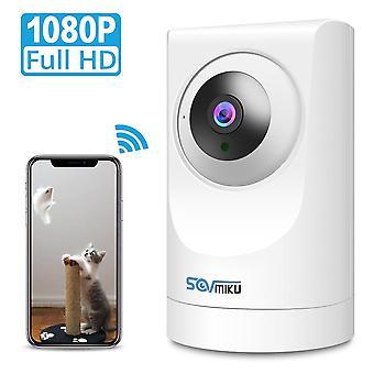 SOVMIKU SF06 1080P Wifi IP kamera Otthoni biztonsági IP kamera Kétirányú Audio WiFi vezeték nélküli CCTV YI IOT Sm