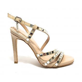 Shoes Woman Sandalo Liu-jo Mod. Bloom Tc 100 Camurça Cor Areia Ds19lj19
