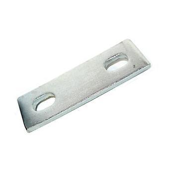 Piastra di supporto squisonato per M10 U-bolt (59 - 75 MM Id) Acciaio placcato zinco