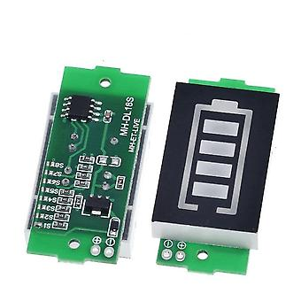 Módulo indicador de capacidade da bateria de lítio exibe testador de energia do veículo elétrico