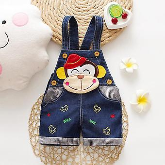 Summer Thin Cartoons Shorts Baby Jeans Overalls Denim Trousers Pants