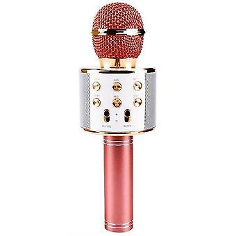 Microphone portable de chant de karaoké bluetooth sans fil microphone de haut-parleur smartpnone portable pour la partie extérieure de ktv à la maison