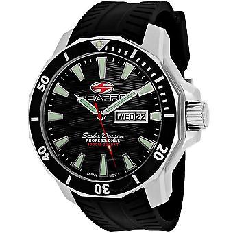 Seapro Scuba Dragon Diver Limited Edition 1000 Meters Quartz Black Dial Men's Watch SP8310