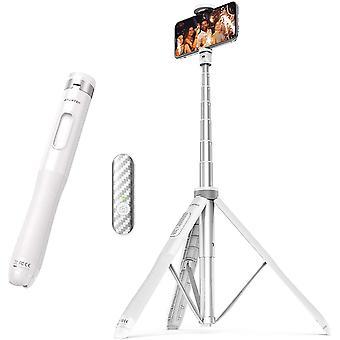 HanFei 130CM Selfie-Stick, Bluetooth Selfie Stick mit Hochbelastbarem Aluminium und Rutschfesten
