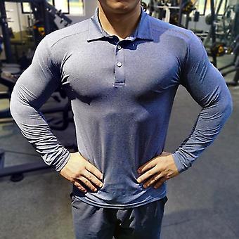 Camisa de running seco rápido, camiseta de deportes de culturismo para hombres