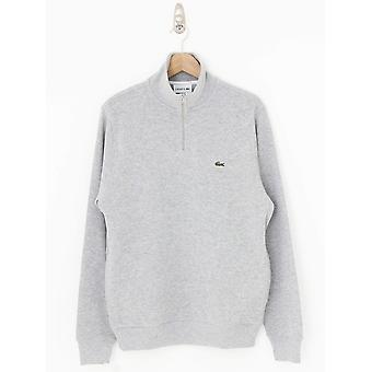Lacoste Zip Stand Up Collar Sweat - Silver
