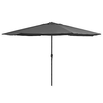 vidaXL parasol avec mât en métal 400 cm anthracite