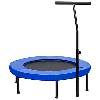 vidaXL Fitness trampoline with handle and safety pad 102 cm