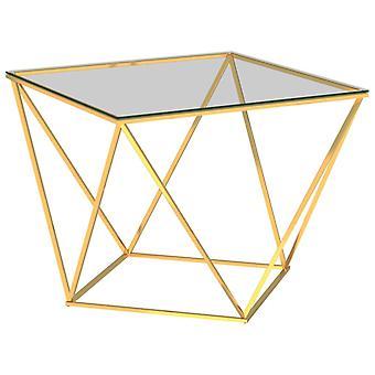 vidaXL table basse d'or 80x80x45 cm en acier inoxydable