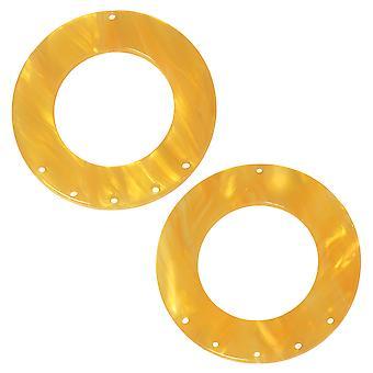Zola Elements Asetaatti riipus linkki, 5-1 pyöreä kattokruunu 38mm, 2 kappaletta, hunajakenno