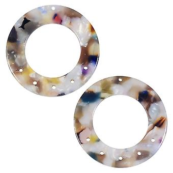 Final Sale - Zola Elements Acetate Pendant Link, Garden Party 5 to 1 Round Chandelier 38.5mm, 2 Pieces, Multi