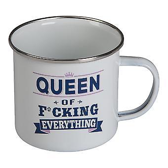 Taza retro Reina de f *cking todo