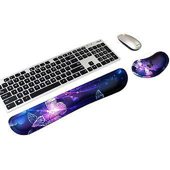 FengChun Handgelenkstützen für Tastatur und Maus, Memory-Schaum, Handstützen-Set für Gaming, Büro,