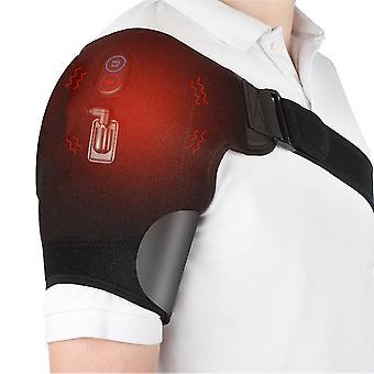Электрическая тепловая терапия Регулируемые плеча скобки Назад Поддержка пояса для вывих плеча Реабилитация Травма Боль Wrap