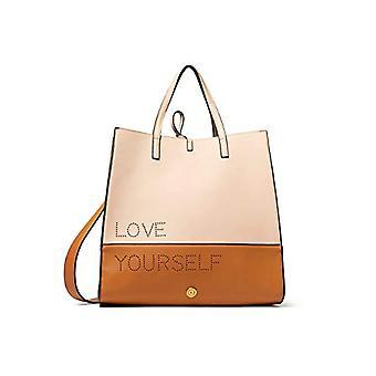 Desigual Bols_rhapsody Blackflooe V - Bag med håndtak, 17.6 x 31.8 x 33 cm, farge: brun / beige