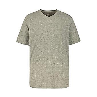 JP 1880 T-Shirt, Grey (Grey Melange 70241512), 3XL Men's