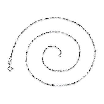 GemShadow Silver Sterling 925 Geometric Tubes Cable Chain